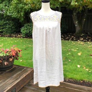 NWOT C&C California Embroidered Linen Dress